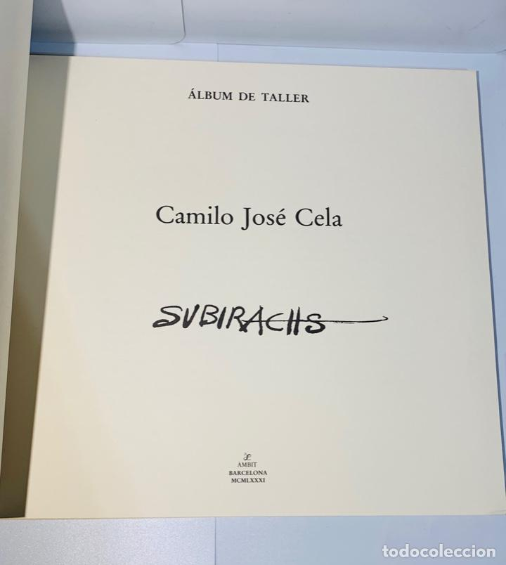 Libros de segunda mano: Camilo José Cela - Subirachs. Álbum de Taller. Ambig. 1era Ed. 1981. Numerado. Con factura de época. - Foto 6 - 208935193