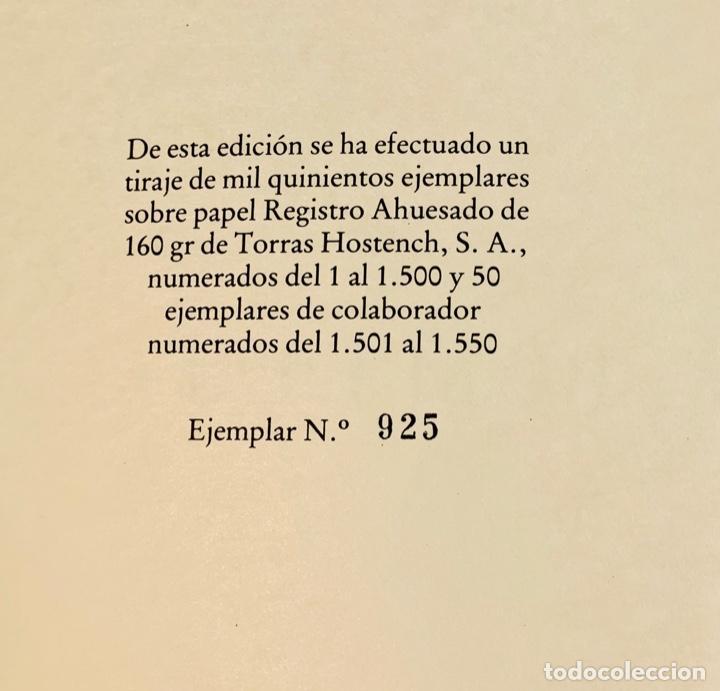 Libros de segunda mano: Camilo José Cela - Subirachs. Álbum de Taller. Ambig. 1era Ed. 1981. Numerado. Con factura de época. - Foto 8 - 208935193