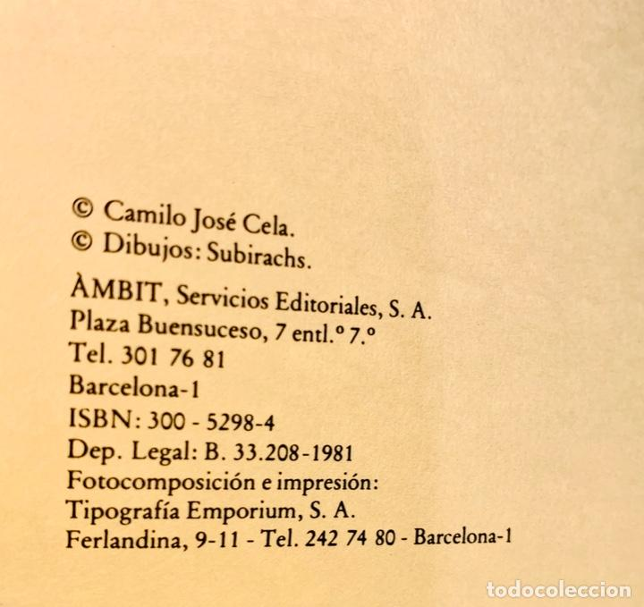 Libros de segunda mano: Camilo José Cela - Subirachs. Álbum de Taller. Ambig. 1era Ed. 1981. Numerado. Con factura de época. - Foto 9 - 208935193