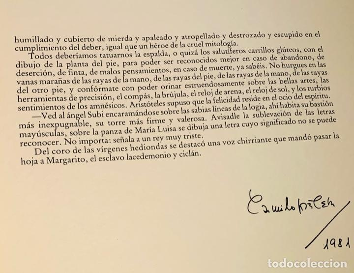 Libros de segunda mano: Camilo José Cela - Subirachs. Álbum de Taller. Ambig. 1era Ed. 1981. Numerado. Con factura de época. - Foto 11 - 208935193