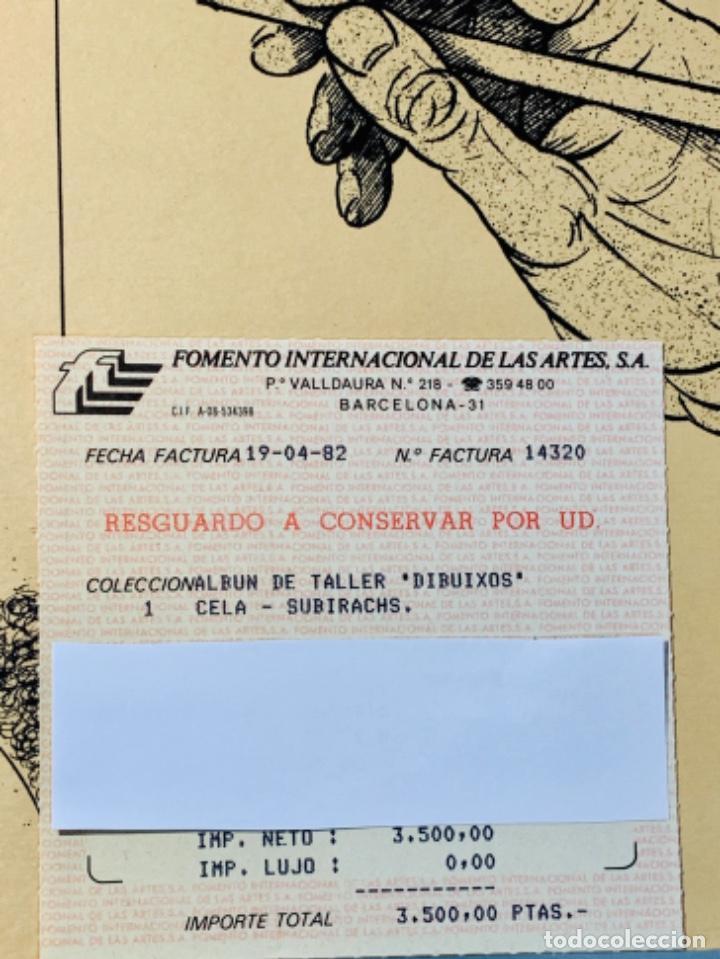 Libros de segunda mano: Camilo José Cela - Subirachs. Álbum de Taller. Ambig. 1era Ed. 1981. Numerado. Con factura de época. - Foto 22 - 208935193