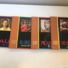 Libros de segunda mano: GENIOS PINTURA ESPAÑOLA,DALÍ, EL GRECO, PICASSO Y MURILLO (4 TOMOS). Lote 209083186