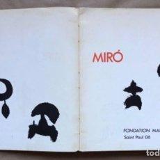 Libros de segunda mano: JOAN MIRÓ. FOUNDATION MAEGHT 1968, SAINT PAUL 06.. Lote 209172760