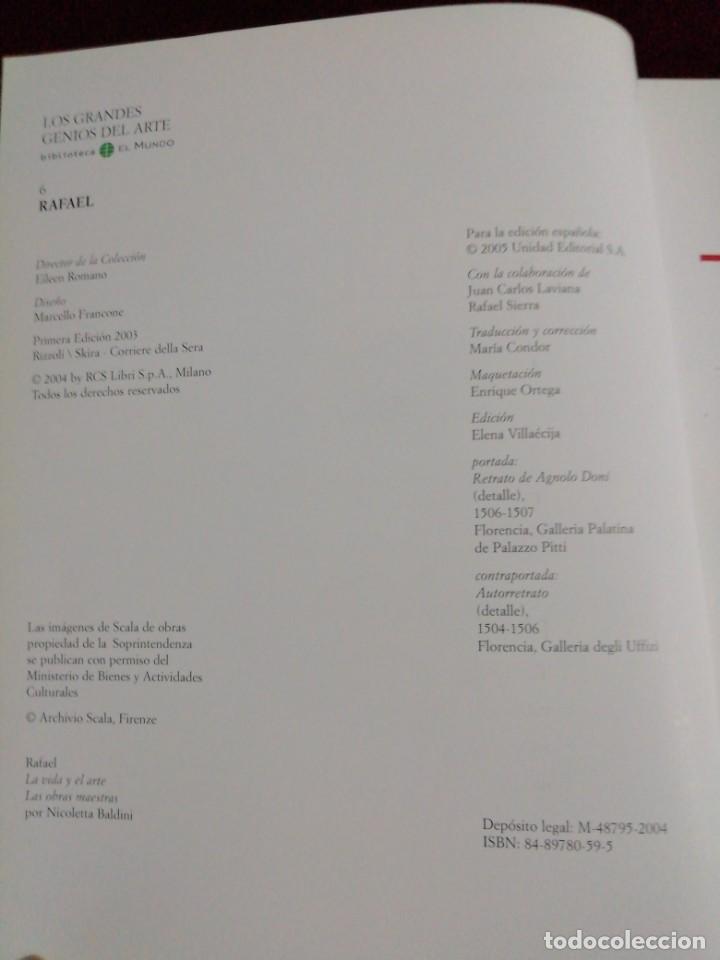 Libros de segunda mano: Rafael. Los grandes genios del arte. Bibliotecas del mundo. Año 2004 - Foto 2 - 210731421