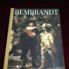 Libros de segunda mano: REMBRANDT. LOS GRANDES GENIOS DEL ARTE. BIBLIOTECAS DEL MUNDO. AÑO 2004. Lote 210731597