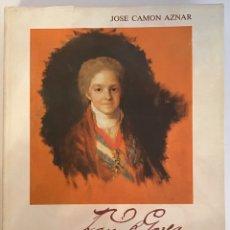 Livros em segunda mão: FRANCISCO DE GOYA/ TOMO III/ 1797-1812 / JOSÉ CAMÓN AZNAR / CAJA AHORROS DE ZARAGOZA ARAGÓN Y RIOJA. Lote 211660470