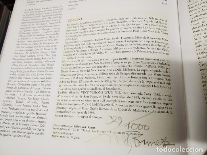 Libros de segunda mano: EL MIRÓ INVISIBLE. VEINTE VISIONES DE UN VISIONARIO POR NILS BURWITZ. NUMERADO Y FIRMA DE BURWITZ - Foto 12 - 212152732