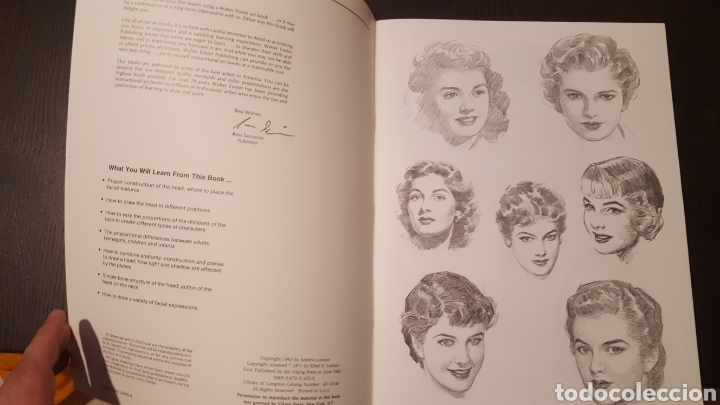 Libros de segunda mano: Lote - Libros Andrew Loomis - How to draw and paint - Walter Foster - Heads 2 - Figures in action - Foto 8 - 212727332