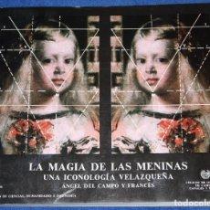 Libros de segunda mano: LA MAGIA DE LAS MENINAS - UNA ICONOLOGÍA VELAZQUEÑA - A-Z EDICIONES Y PUBLICACIONES (1989). Lote 212907475