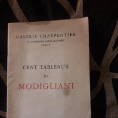 Libros de segunda mano: GALERÍA CHARPENTIER, TABLEAUX DE MODIGLIANI. Lote 215575681