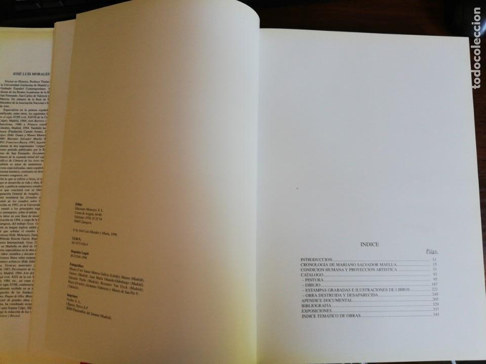 Libros de segunda mano: MARIANO SALVADOR MAELLA, VIDA Y OBRA - JOSE LUIS MORALES Y MARIN. 1996 - Foto 6 - 216785936