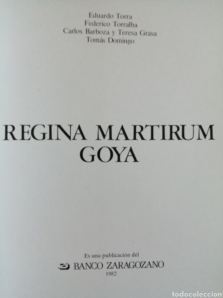 Libros de segunda mano: Regina Martirum. Goya. - Foto 3 - 217120366