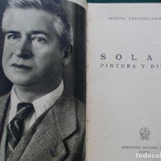 Libros de segunda mano: SOLANA DIBUJOS Y PINTURA. Lote 217418502