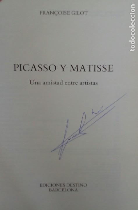 Libros de segunda mano: PICASSO Y MATISSE UNA AMISTAD ENTRE ARTISTAS. FRANÇOISE GILOT. DESTINO 1993. - Foto 4 - 217446613