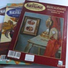 Libros de segunda mano: 3 REVISTAS DE MANOS MARAVILLOSAS - DE VEGA PUBLICACIONES - AÑO 1999. Lote 218834918