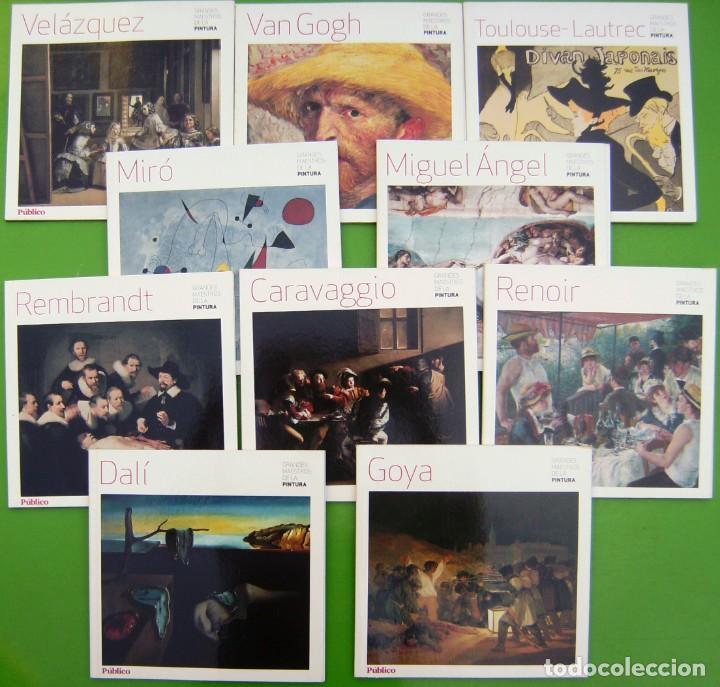 LOTE 10 GRANDES MAESTROS DE LA PINTURA (DALI, GOYA, CARAVAGGIO, RENOIR, VELAZQUEZ, MIRÓ, REMBRAND, V (Libros de Segunda Mano - Bellas artes, ocio y coleccionismo - Pintura)