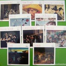 Libros de segunda mano: LOTE 10 GRANDES MAESTROS DE LA PINTURA (DALI, GOYA, CARAVAGGIO, RENOIR, VELAZQUEZ, MIRÓ, REMBRAND, V. Lote 219453738