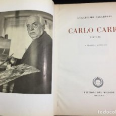 Libros de segunda mano: CARLO CARRA PITTORE GUGLIELMO PACCHIONI EDITORIAL: EDIZIONI DEL MILIONE, MILANO, 1959. Lote 221416420