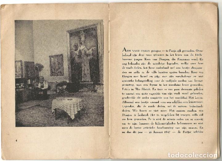 Libros de segunda mano: KEES VAN DONGEN - PINTOR - AMSTERDAM 1947 - 38 PÁGINAS - Foto 3 - 221780682