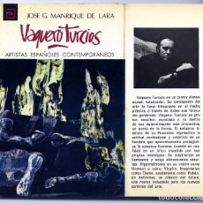 Libros de segunda mano: MANRIQUE, JOSÉ GERARDO. VAQUERO TURCIOS. 1973.. Lote 222327490