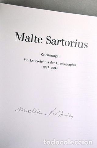 Libros de segunda mano: Malte Sartorius. Werkverzeichnis der Druckgraphik - Catálogo razonado de grabados 1987-1994. Firmado - Foto 2 - 222715768
