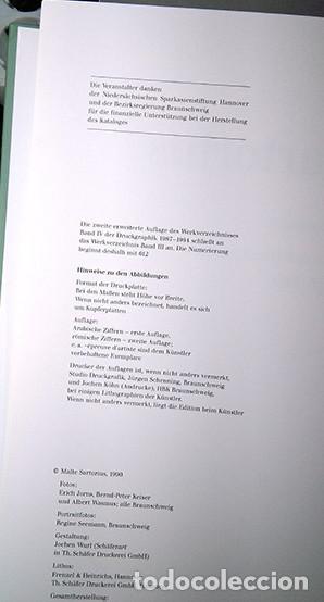 Libros de segunda mano: Malte Sartorius. Werkverzeichnis der Druckgraphik - Catálogo razonado de grabados 1987-1994. Firmado - Foto 5 - 222715768