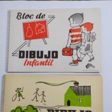 Libros de segunda mano: LOTE 2 BLOC DE DIBUJO INFANTIL, DORY. AÑOS 60. Lote 223865297