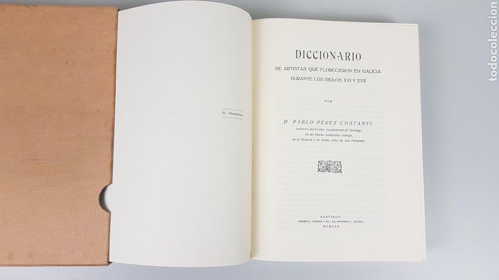 Libros de segunda mano: DICCIONARIO DE ARTISTAS QUE FLORECIERON EN GALICIA DURANTE LOS S. XVI y XVII Pablo Pérez Costanti - Foto 6 - 225197060
