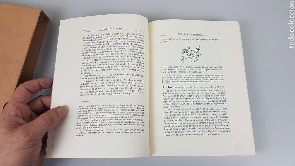 Libros de segunda mano: DICCIONARIO DE ARTISTAS QUE FLORECIERON EN GALICIA DURANTE LOS S. XVI y XVII Pablo Pérez Costanti - Foto 7 - 225197060