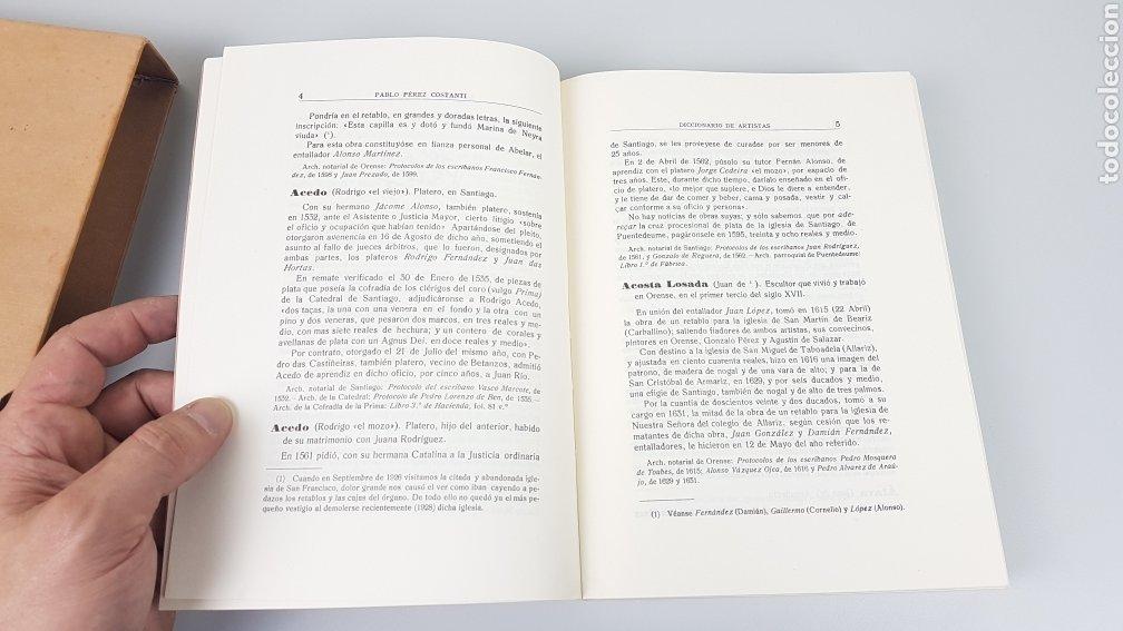 Libros de segunda mano: DICCIONARIO DE ARTISTAS QUE FLORECIERON EN GALICIA DURANTE LOS S. XVI y XVII Pablo Pérez Costanti - Foto 8 - 225197060