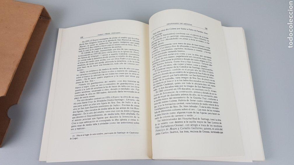 Libros de segunda mano: DICCIONARIO DE ARTISTAS QUE FLORECIERON EN GALICIA DURANTE LOS S. XVI y XVII Pablo Pérez Costanti - Foto 9 - 225197060