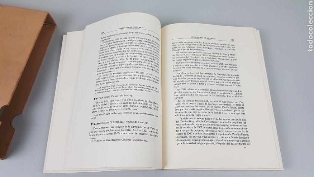 Libros de segunda mano: DICCIONARIO DE ARTISTAS QUE FLORECIERON EN GALICIA DURANTE LOS S. XVI y XVII Pablo Pérez Costanti - Foto 10 - 225197060