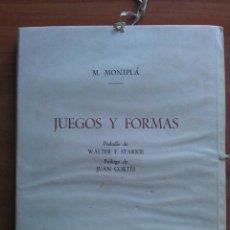 Livros em segunda mão: 1950 JUEGOS Y FORMAS. CUARENTA Y NUEVE DIBUJOS - MONTPLÁ. Lote 225282071