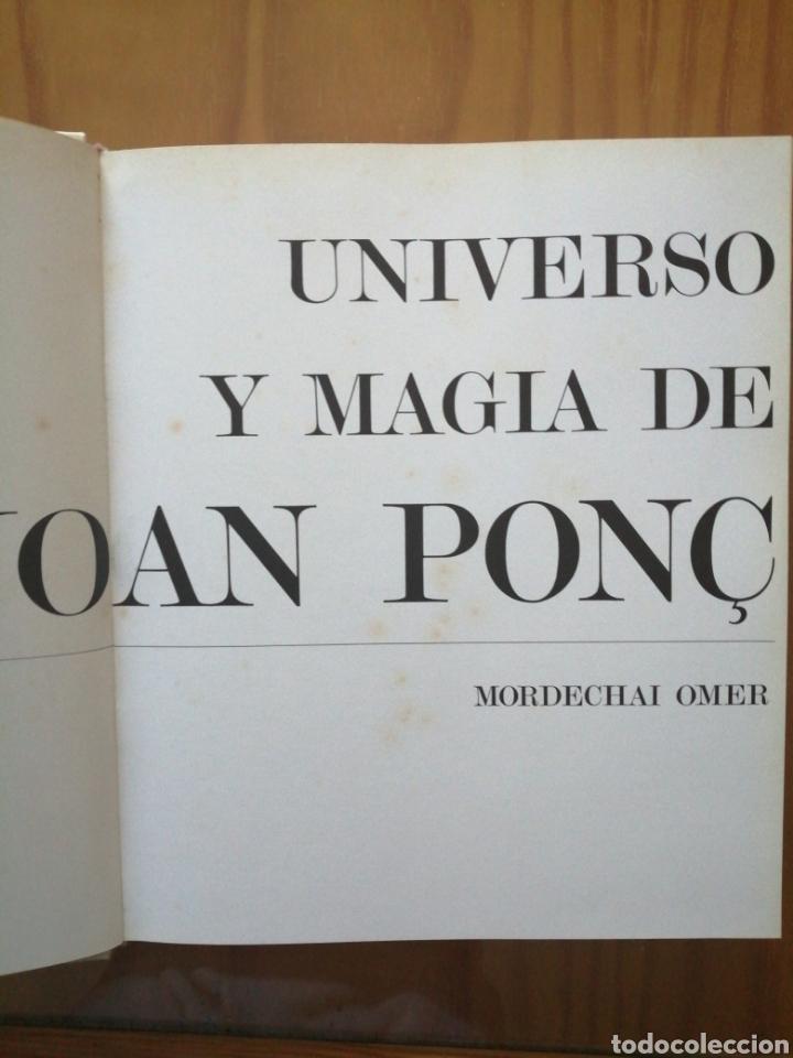 Libros de segunda mano: Universo y Magia de Joan Ponc. Mordechai Omer. - Foto 4 - 226247955