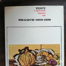 Libros de segunda mano: TOUT L, OEUVRE PEINT DE BRAQUE./ 1908-1929.. Lote 227198745