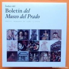 Libros de segunda mano: INDICE DEL BOLETÍN DEL MUSEO DEL PRADO - NUMEROS DE 1980 A 2004 - CD-ROM - NUEVO. Lote 227550140