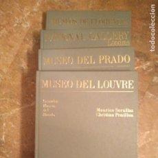 Libros de segunda mano: LOTE 4 LIBROS GRANDES MUSEOS DEL MUNDO- LOUVRE, DEL PRADO, NATURAL GALLERY, FLORENCIA.. Lote 227950140