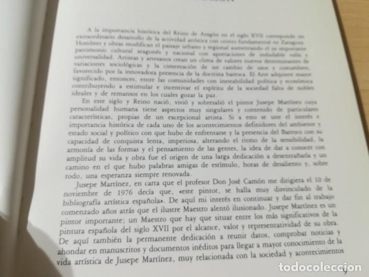 Libros de segunda mano: JUSEPE MARTINEZ 1600 -1682 / VICENTE GONZALEZ - CAMON AZNAR, ZARAGOZA / / AC105 - Foto 9 - 231675240