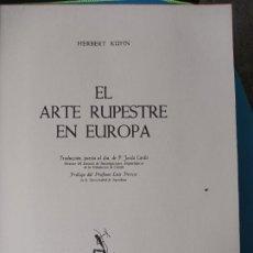 Libros de segunda mano: EL ARTE RUPESTRE EN EUROPA - HERBERT KÜHN. Lote 238084725