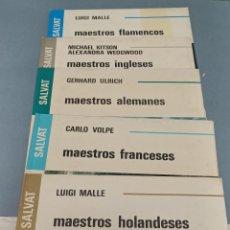Libros de segunda mano: LOTE DE 5 GRAN ATLAS DE LA PINTURA SALVAT MAESTROS FLAMENCOS INGLESES ALEMANES FRANCESES HOLANDESES. Lote 239656130