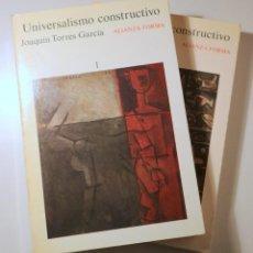 Libros de segunda mano: TORRES GARCÍA, JOAQUÍN - UNIVERSALISMO CONSTRUCTIVO (2 VOL. - COMPLETO) - MADRID 1984 - ILUSTRADO. Lote 241900440