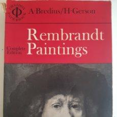 Libros de segunda mano: REMBRANDT PAINTINGS COMPLETE EDITION PHAIDON N.YORK 1971. Lote 242828915