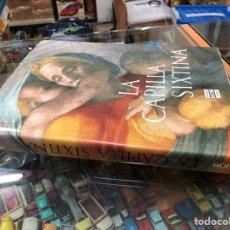 Livros em segunda mão: LIBRO GRAN FORMATO LA CAPILLA SIXTINA DE PLAZA & JANES EDITADO EN 1986. Lote 243417035