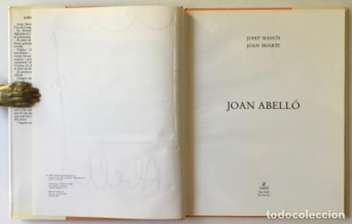 Libros de segunda mano: JOAN ABELLÓ. - MASATS, Josep; y IRIARTE, Joan. DEDICADO. - Foto 4 - 243984655
