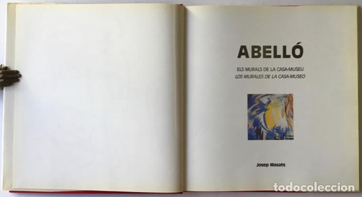 Libros de segunda mano: ABELLÓ. ELS MURALS DE LA CASA-MUSEU. LOS MURALES DE LA CASA-MUSEO. - MASATS, Josep. DEDICAT. - Foto 3 - 243987855