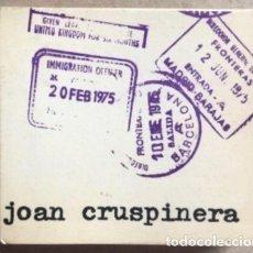 Libros de segunda mano: JOAN CRUSPUNERA. LIBRO NUMERADO DE DIBUJOS DE CRUSPINERA. EDITADO POR ÉL MISMO EN 1975.. Lote 132498614