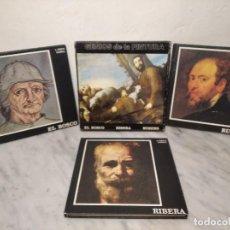 Libros de segunda mano: ESTUCHE GENIOS DE LA PINTURA - 3 LIBROS - EL BOSCO, RUBENS Y RIBERA - ED. MUNDILIBRO 1973 - J. COSTA. Lote 245114890