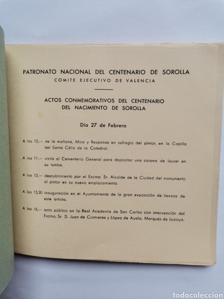 Libros de segunda mano: Centenario de Sorolla Valencia 1963 dirección General de bellas artes - Foto 2 - 254341335