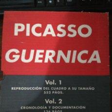 Libros de segunda mano: PICASSO. GUERNICA 1 Y 2 (2 LIBROS). POESÍA. 1993. MINISTERIO DE CULTURA (EN CAJA) A ESTRENAR. Lote 257891335