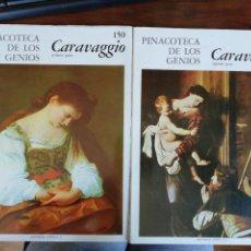 Libros de segunda mano: CARAVAGGIO. PINACOTECA DE LOS GENIOS. 150 Y 151.EDITORIAL CÓDEX, 1968. Lote 260537125